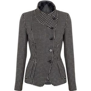 MaxMara Polka Dot Cashmere Wool Button Up Jacket